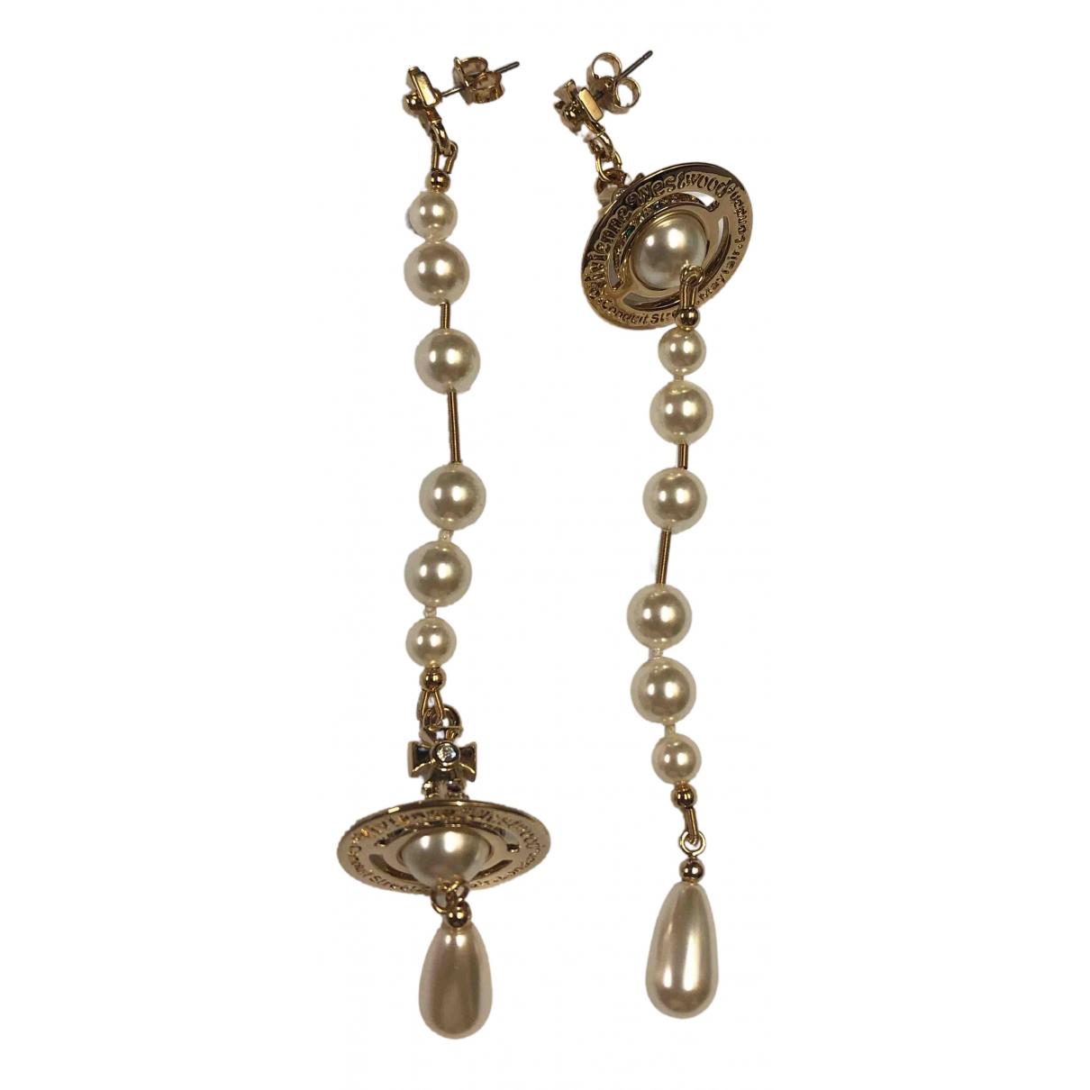 Vivienne Westwood N Gold Metal Earrings for Women N