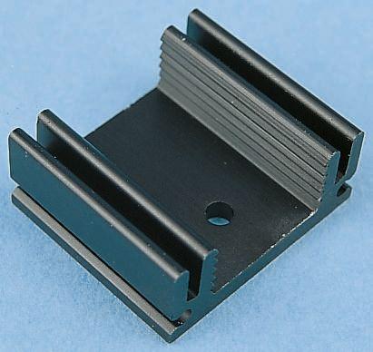 Schaffner Heatsink, 12K/W, 25.4 x 29 x 12mm, Clip, Black
