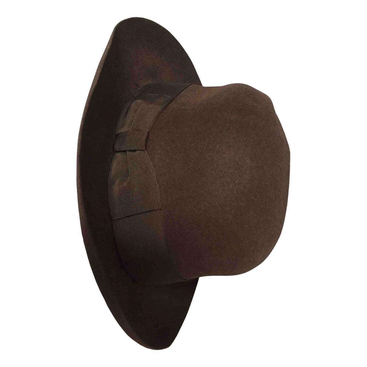 Borsalino N Brown hat & pull on hat for Men M International