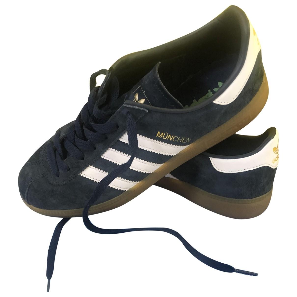 Adidas - Baskets   pour homme en cuir - marine