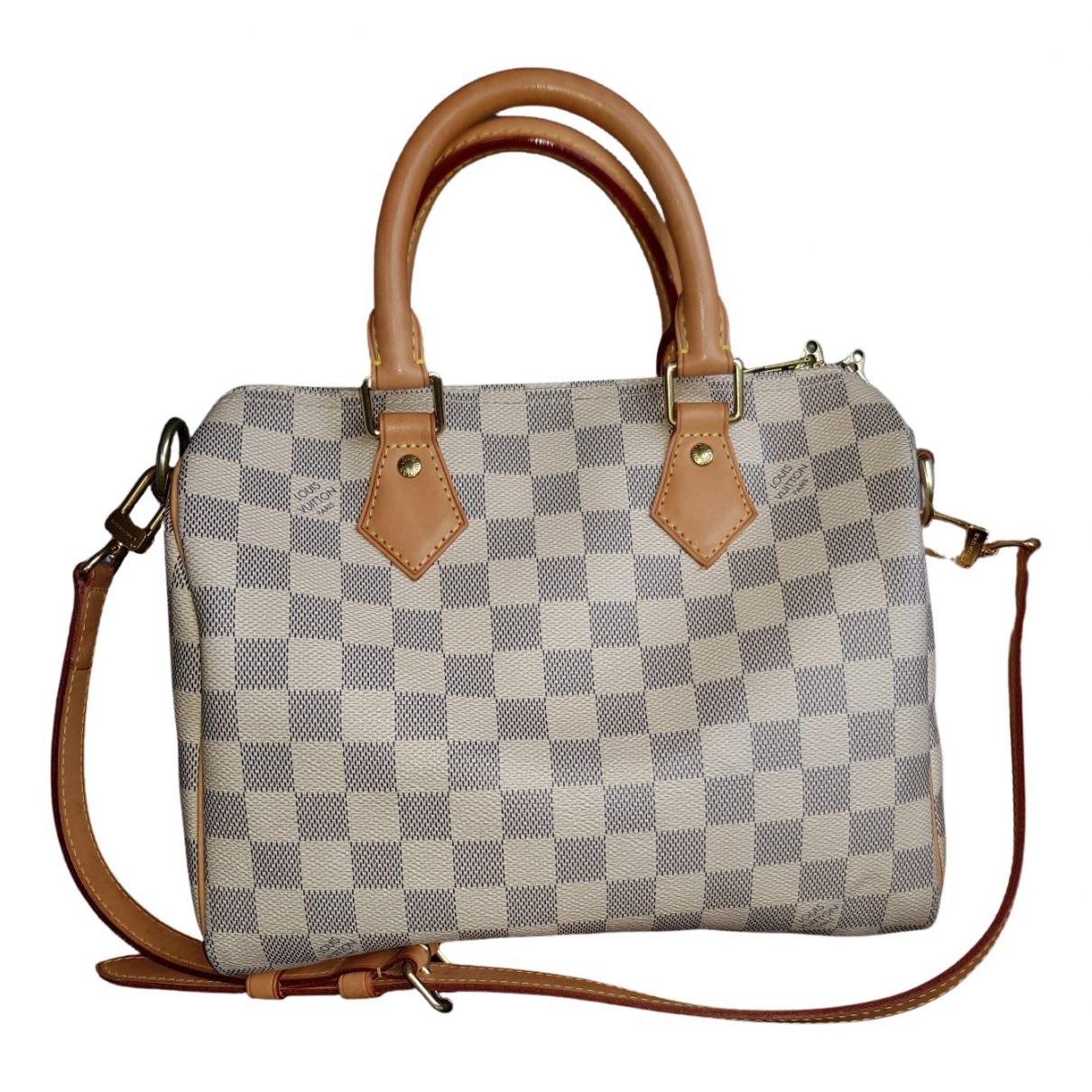 Louis Vuitton Speedy Bandoulière Ecru Cloth handbag for Women N