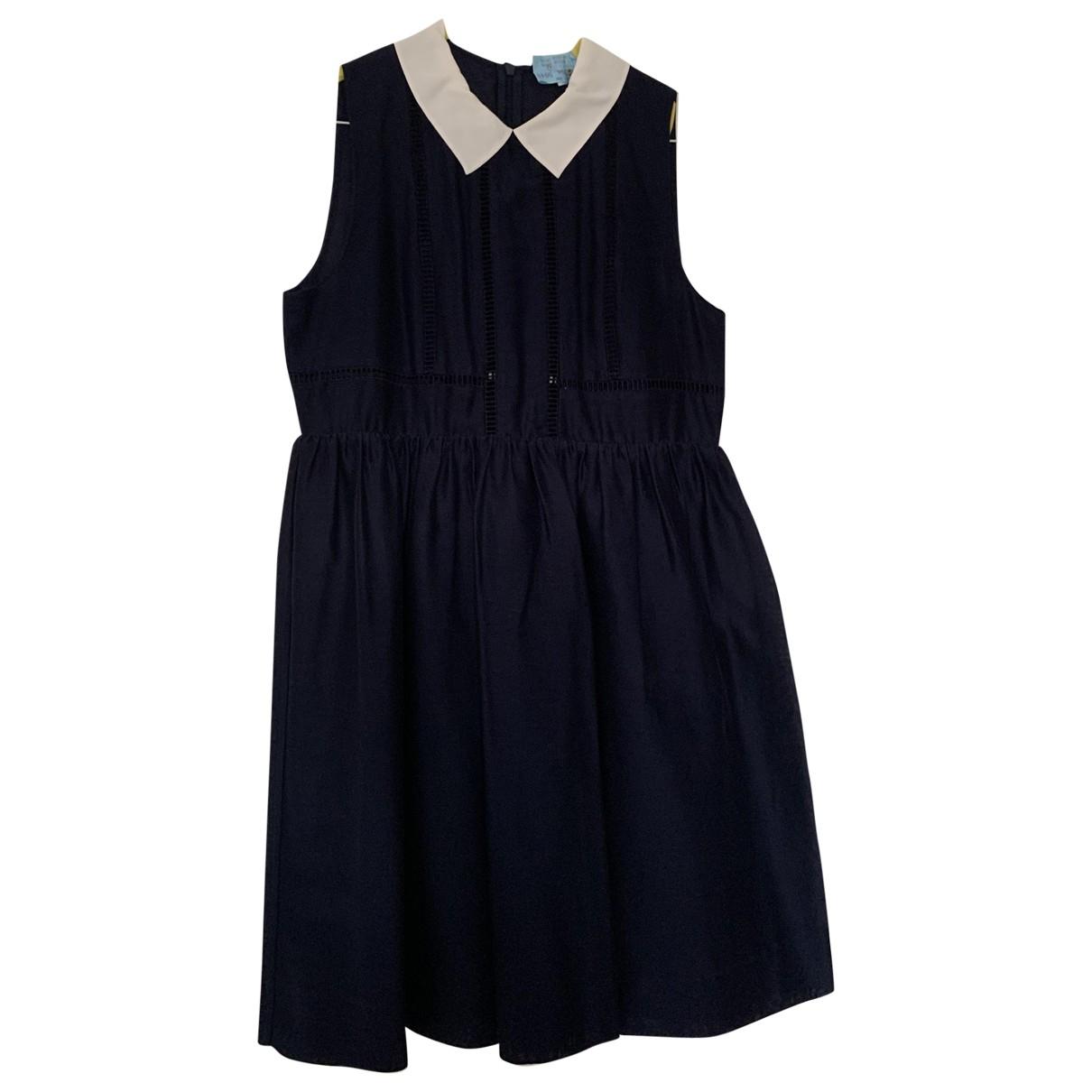 Claudie Pierlot \N Navy Cotton dress for Women 36 FR