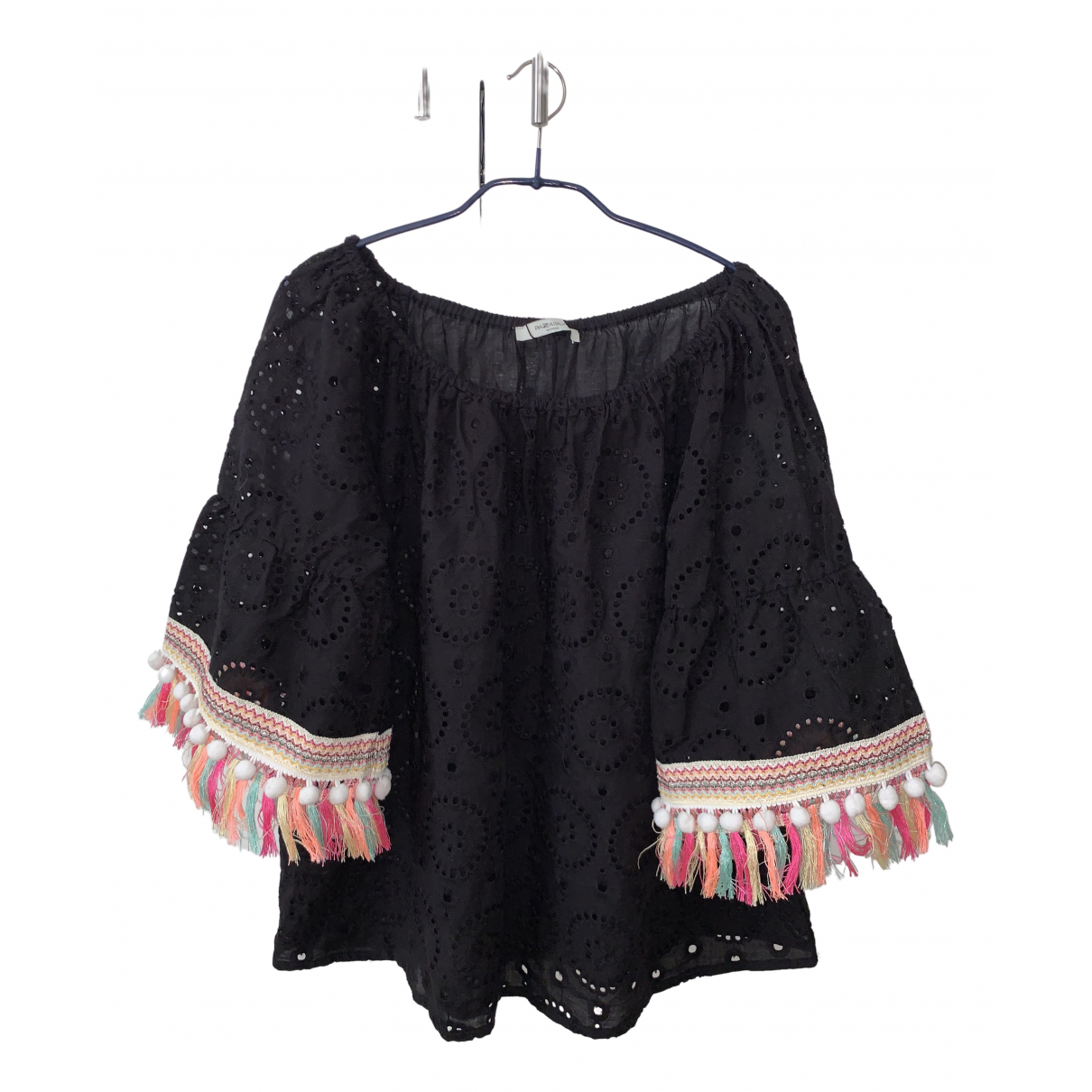 Non Signé / Unsigned \N Black Cotton  top for Women M International