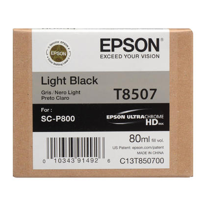 Epson T850 T850700 cartouche d'encre originale UltraChrome gris