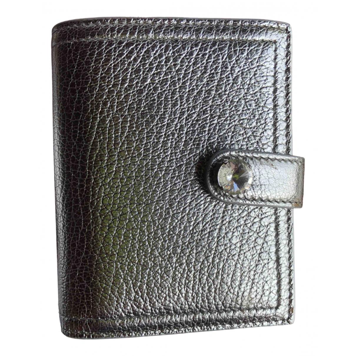 Miu Miu N Silver Leather wallet for Women N