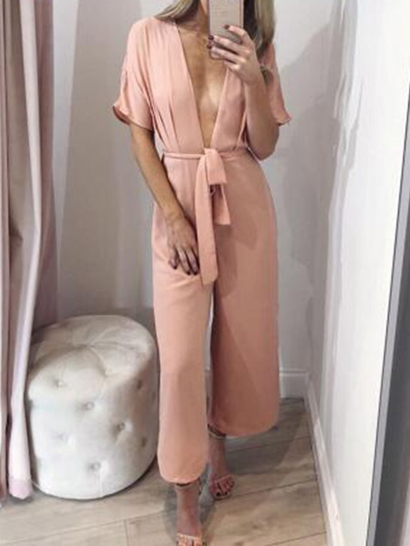 Ericdress Plain Ankle Length Casual Loose Women's Jumpsuit