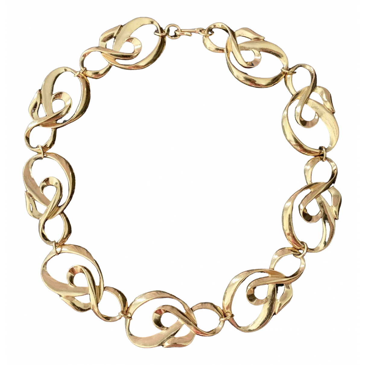 - Collier   pour femme en plaque or - dore