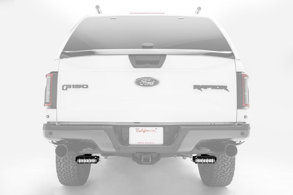 Ford Rear Bumper LED Bracket to mount (2) 6 Inch Straight Light Bar PN Z385662