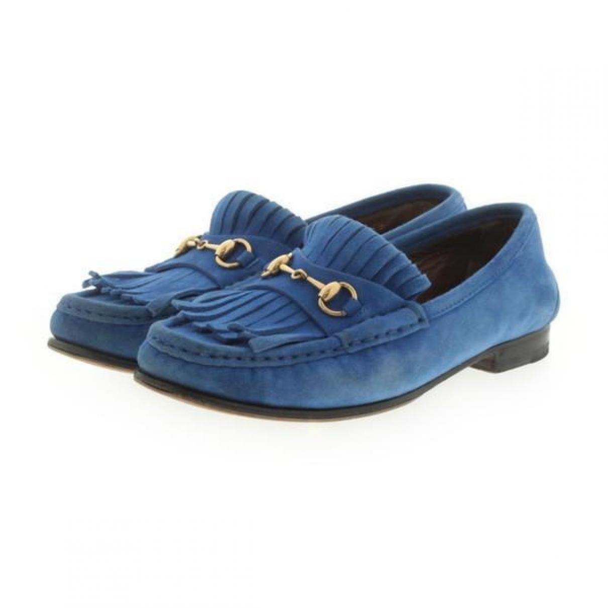 Gucci - Mocassins   pour femme en suede - bleu