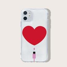 iPhone Schutzhuelle mit Herzen Muster