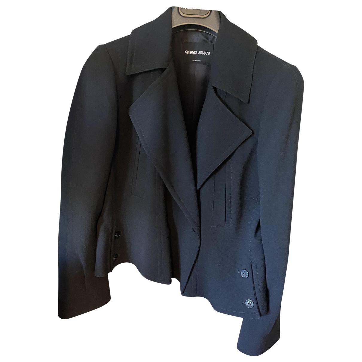 Giorgio Armani - Veste   pour femme en laine - noir