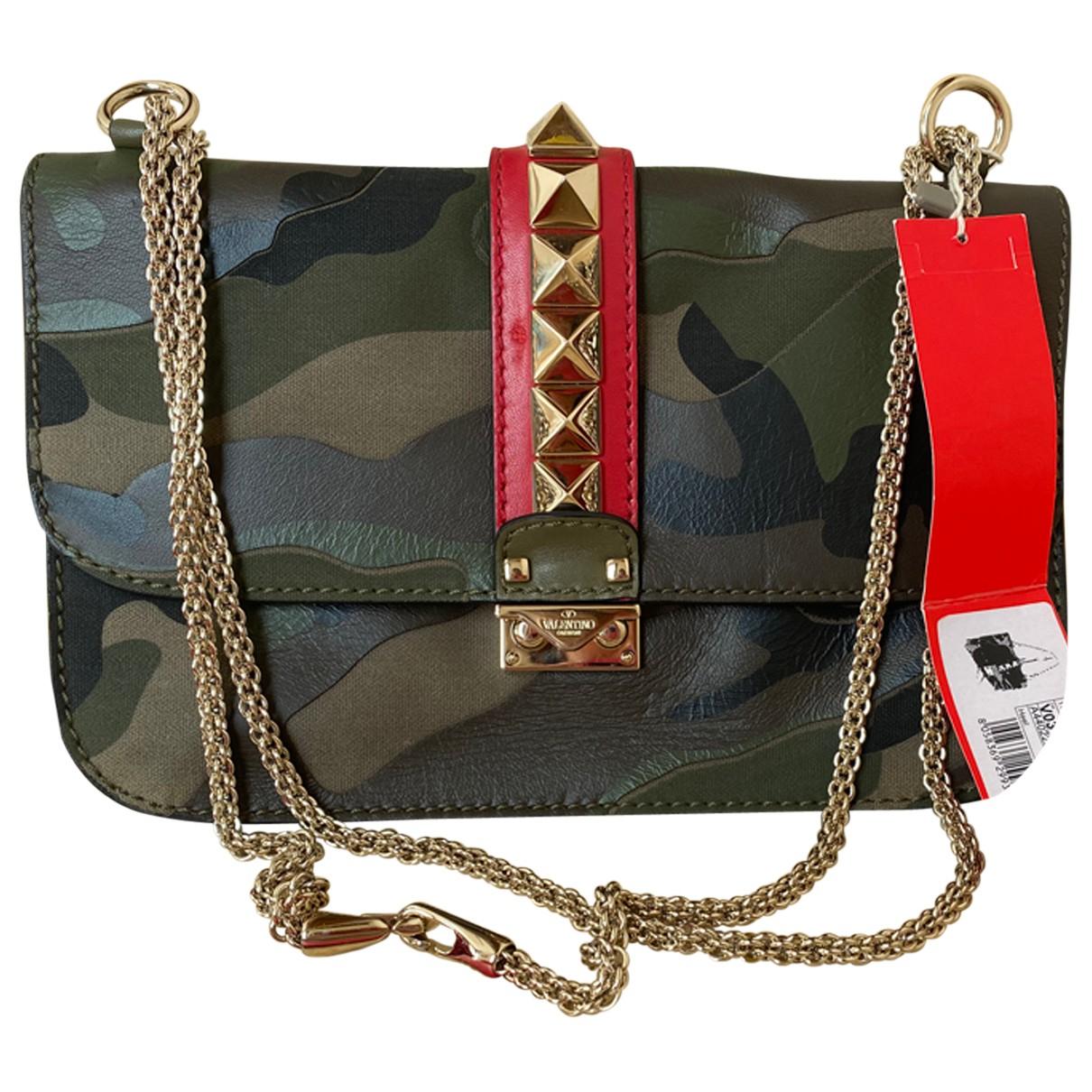 Valentino Garavani Glam Lock Handtasche in  Bunt Leder