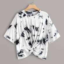 Camiseta de tie dye bajo girante - grande