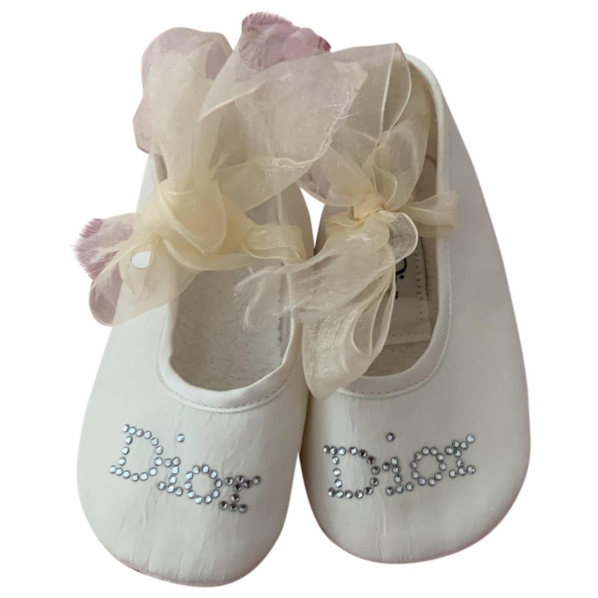 Dior \N Ecru Cloth First shoes for Kids 18 EU