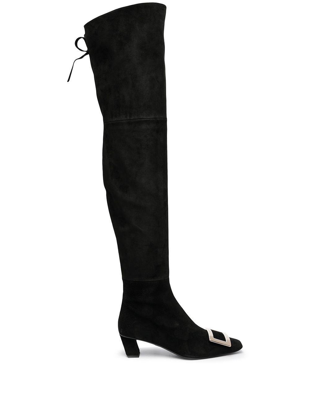 Belle Vivier Leather Boots