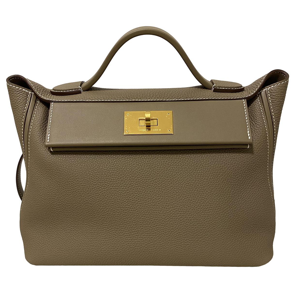Hermès 24/24 Grey Leather handbag for Women N