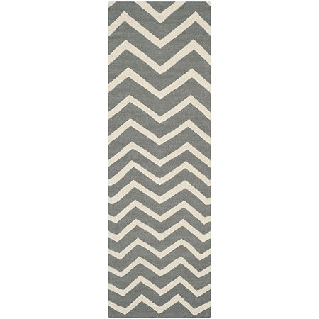 Safavieh Carter Chevron Hand-Tufted Wool Rug, One Size , Gray