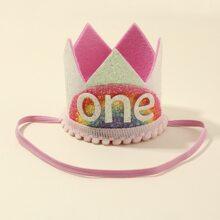 Toddler Girls Crown Decor Headband