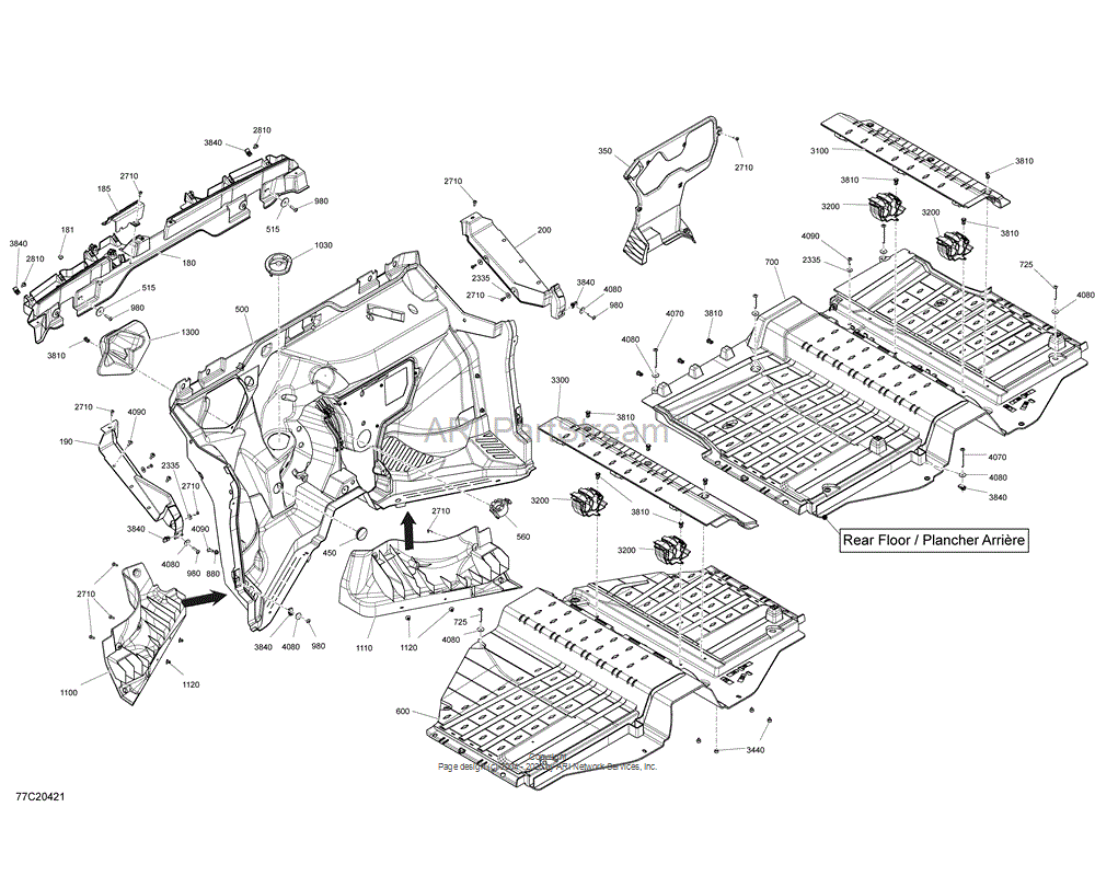 Can-AM OEM Rear Floor Assembly