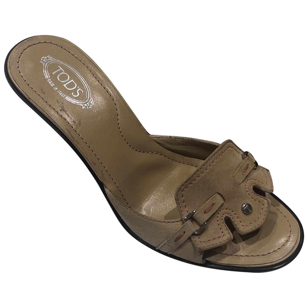 Tods \N Beige Suede Sandals for Women 38 EU
