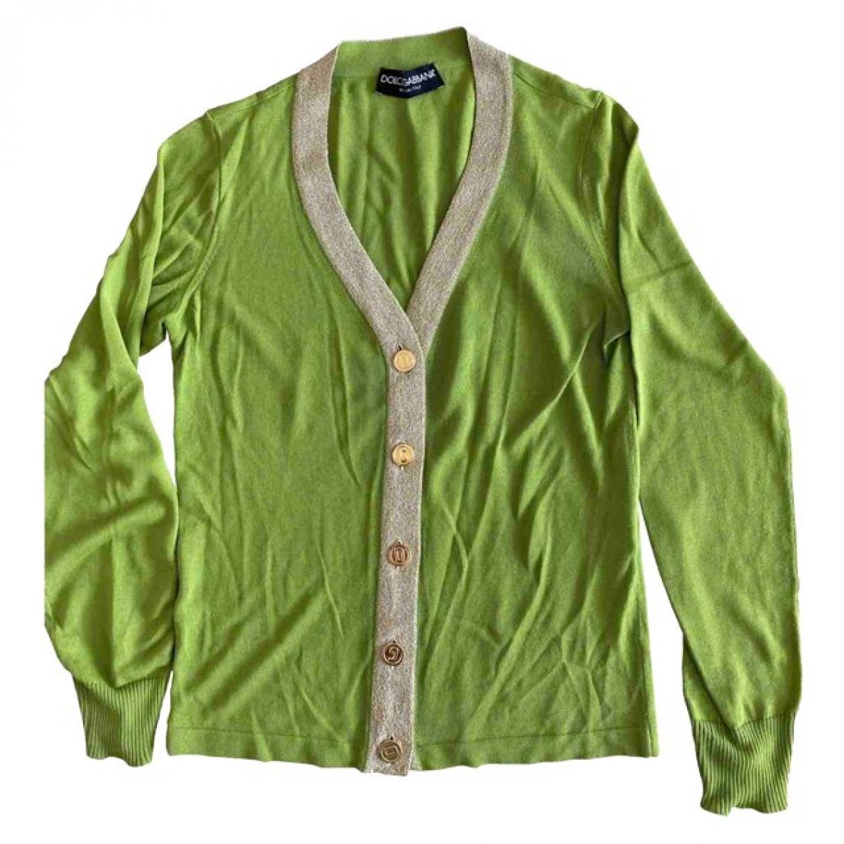 Dolce & Gabbana - Pull   pour femme en coton - vert