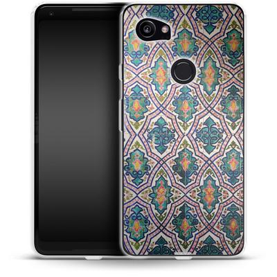 Google Pixel 2 XL Silikon Handyhuelle - Tile Pattern von Omid Scheybani
