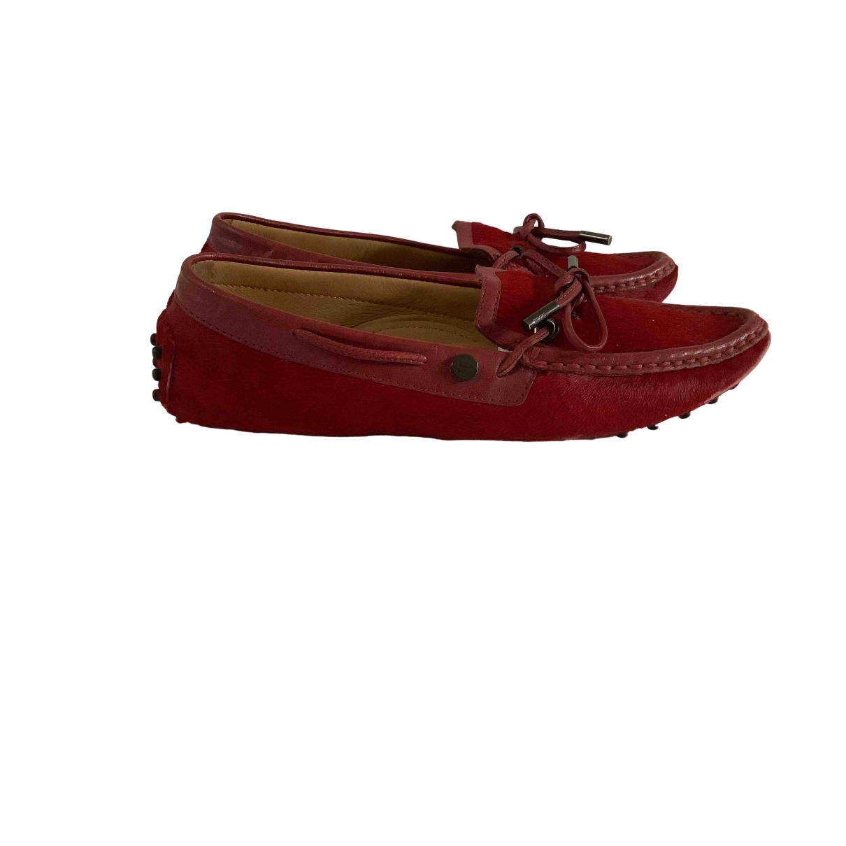 Tod's Gommino Red Pony-style calfskin Flats for Women 36.5 IT