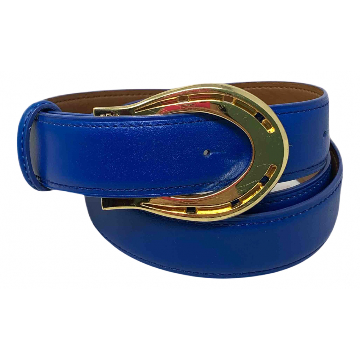 Lauren Ralph Lauren N Blue Leather belt for Women 85 cm