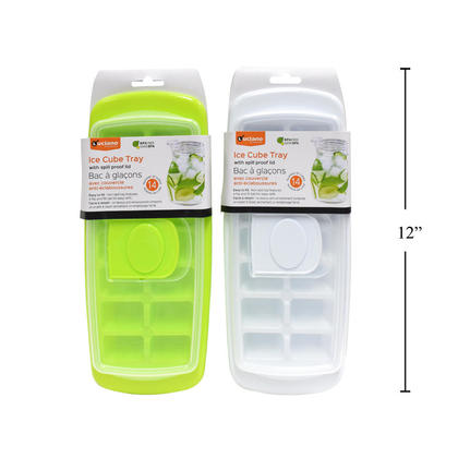 Ice Cube Tray with Spill Proof Lid, 1 Randomized Color Per Pack