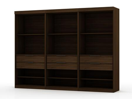 Mulberry Collection 113GMC5 Wardrobe/ Armoire/ Closet with 12 Adjustable Shelves  6 Drawers    Contemporary Modern Style  Medium-Density Fiberboard