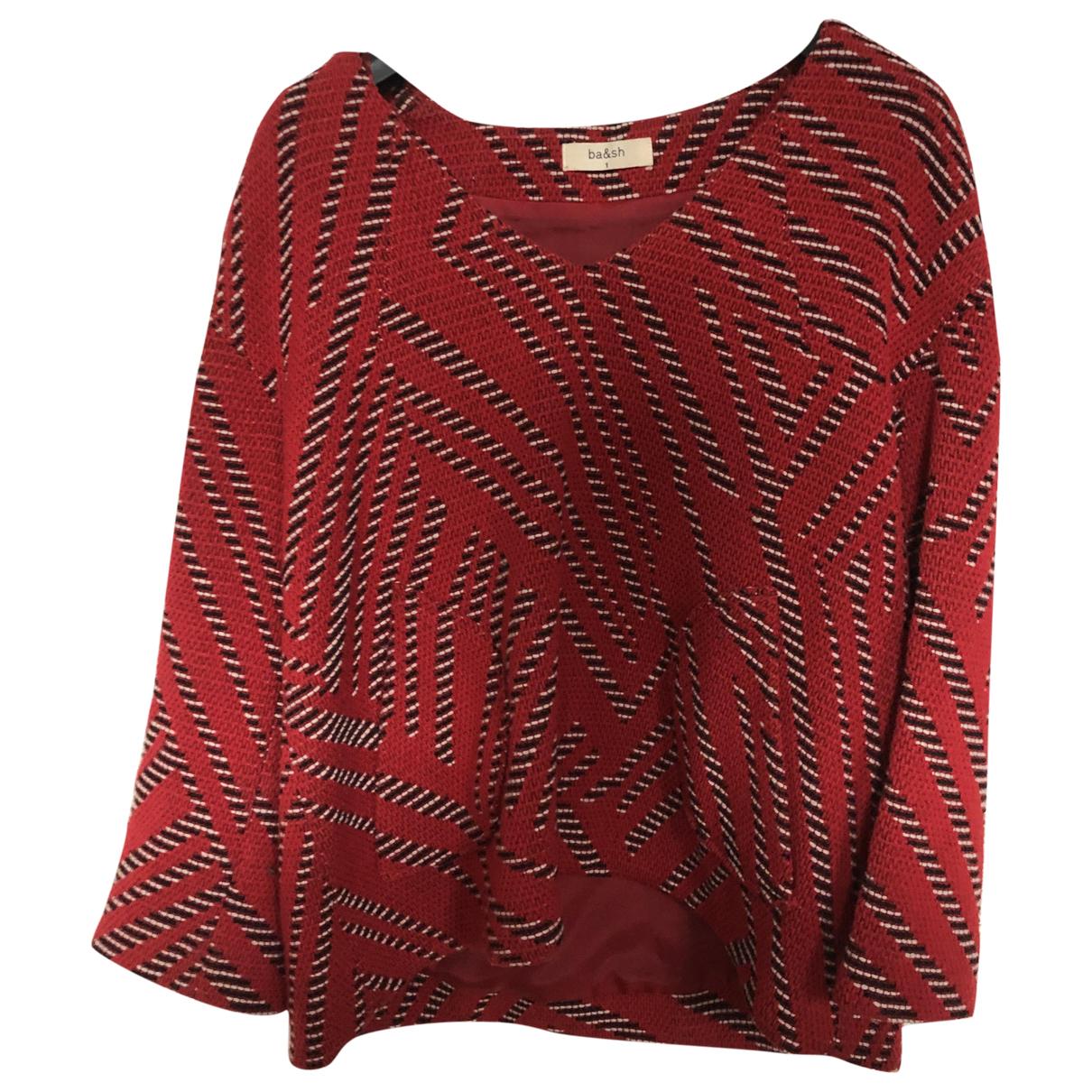 Ba&sh - Top   pour femme en laine - rouge