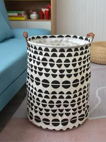 Semicircle Pattern Foldable Dirty Clothes Hamper