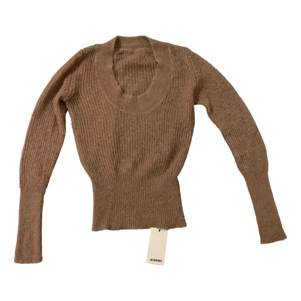 Jacquemus - Pull La Maille Pablo pour femme en laine - camel