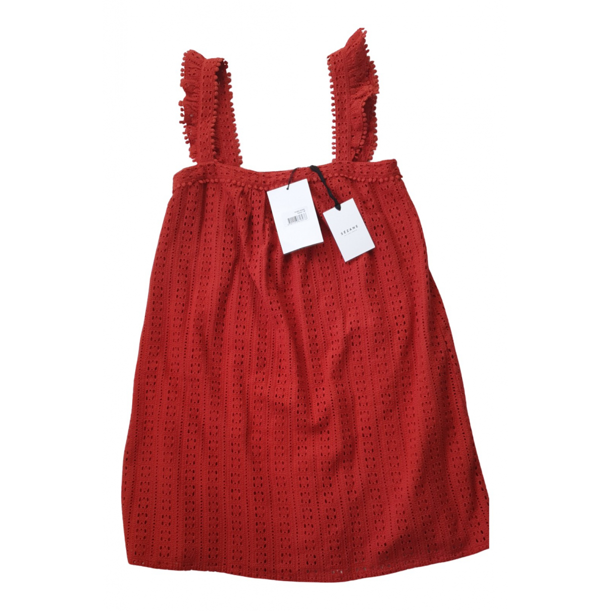 Sezane - Robe Spring Summer 2019 pour femme en coton - rouge