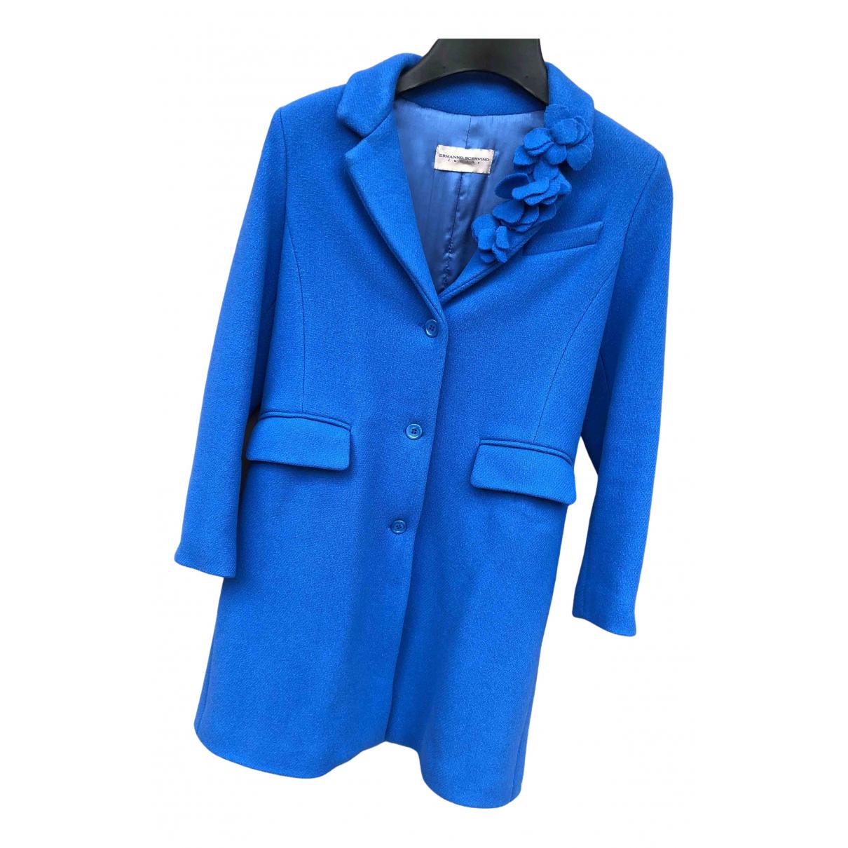 Ermanno Scervino \N Jacke, Maentel in  Blau Wolle