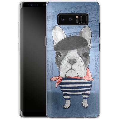 Samsung Galaxy Note 8 Silikon Handyhuelle - French Bulldog with Arc de Triomphe von Barruf