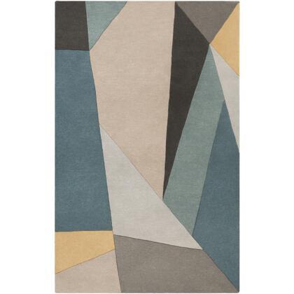 Forum FM-7223 12' x 15' Rectangle Modern Rug in Teal  Sage  Medium Gray  Light Gray
