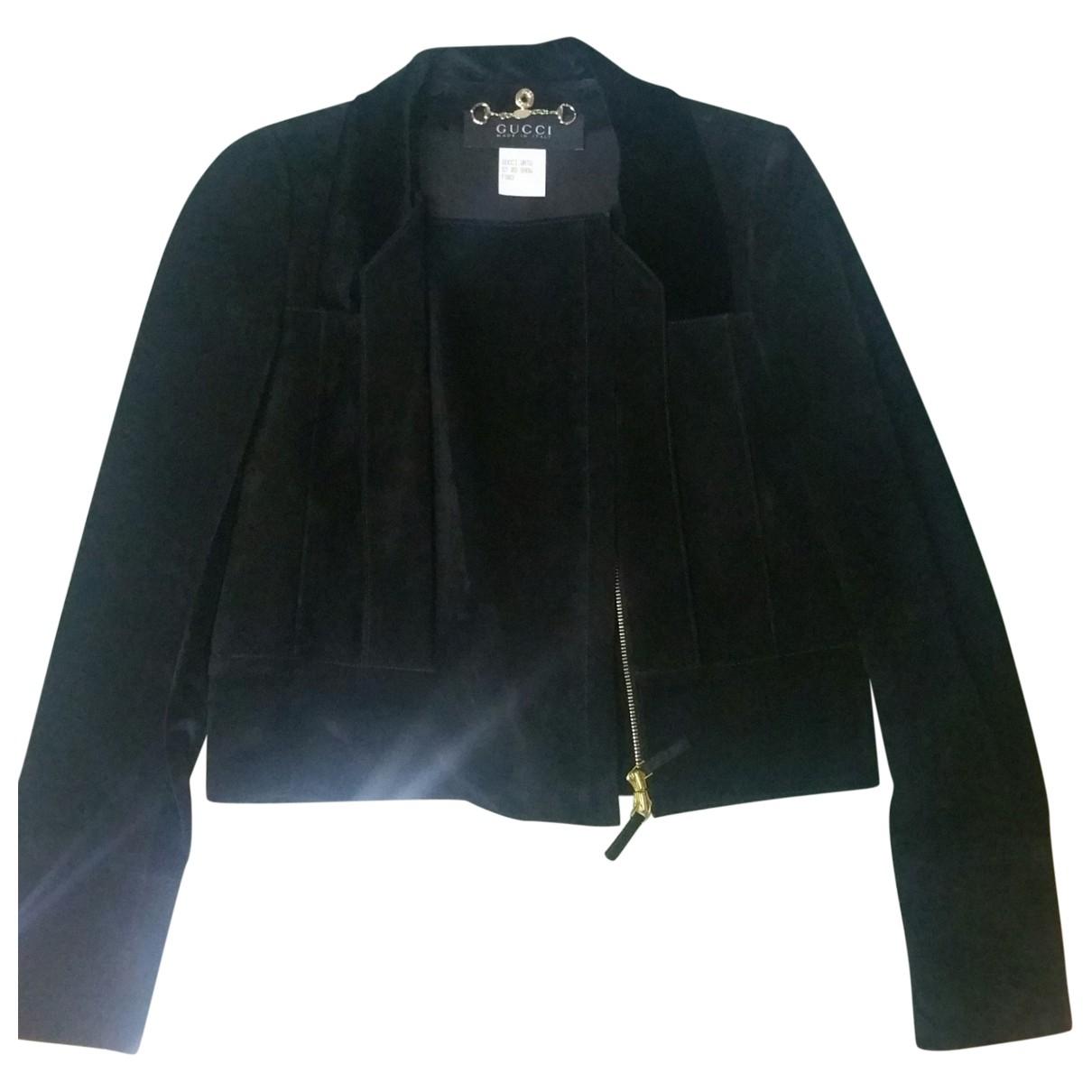 Gucci \N Black Suede jacket for Women 38 IT