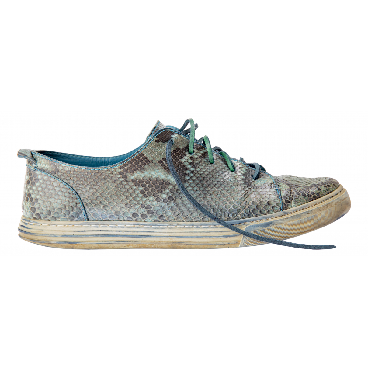 Gucci N Green Python Trainers for Men 11 UK