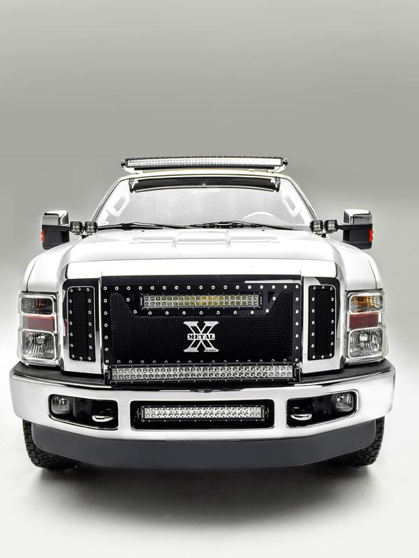 2008-2010 Ford Super Duty Front Bumper Center LED Kit Incl. (1) 20 Inch LED Straight Double Row Light Bar PN Z325632-KIT