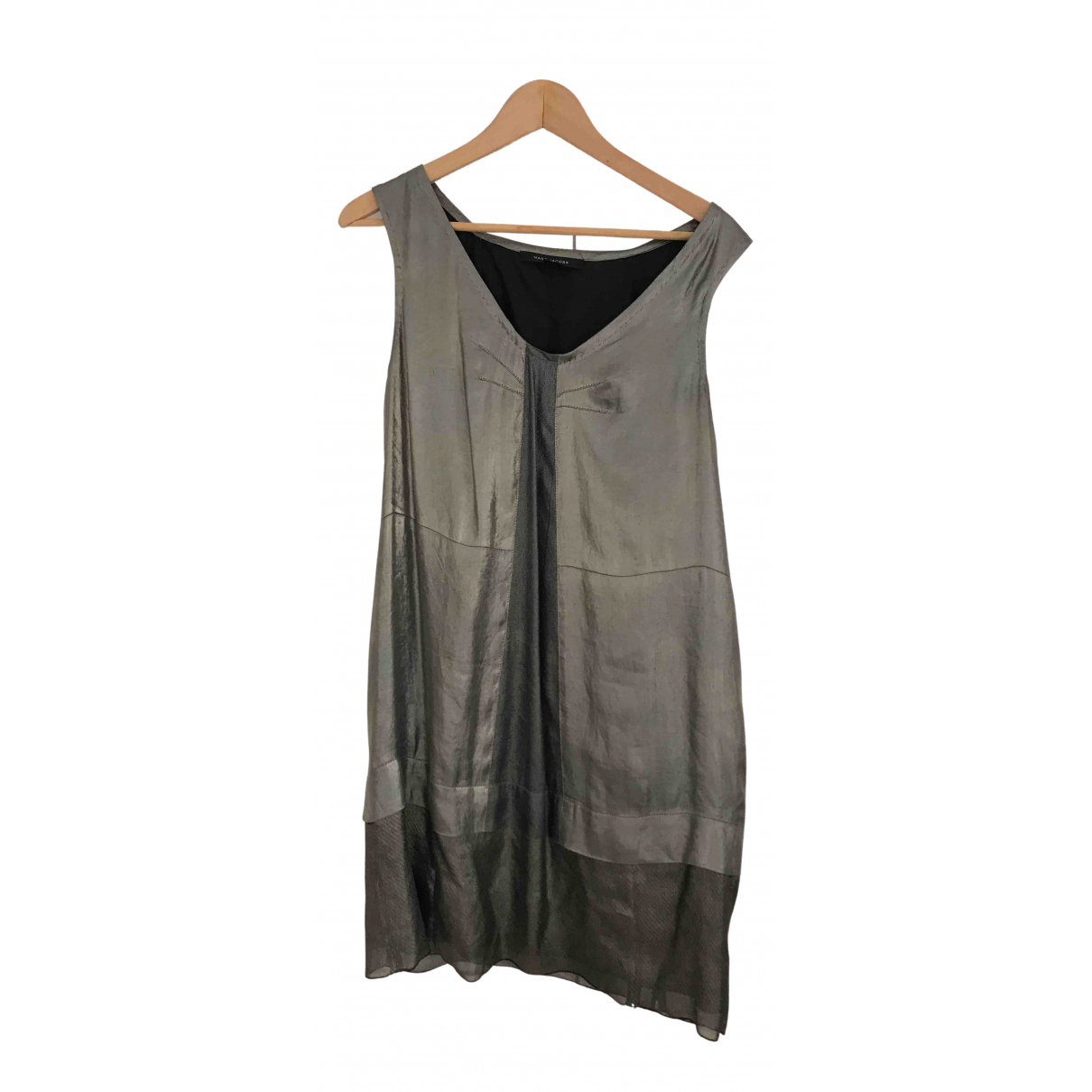 Marc Jacobs \N Kleid in  Grau Seide