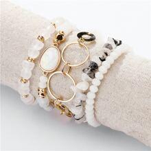 5pcs Geometric Crystal Bracelet