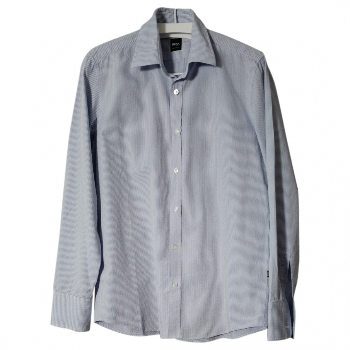 Boss \N Blue Cotton Shirts for Men M International