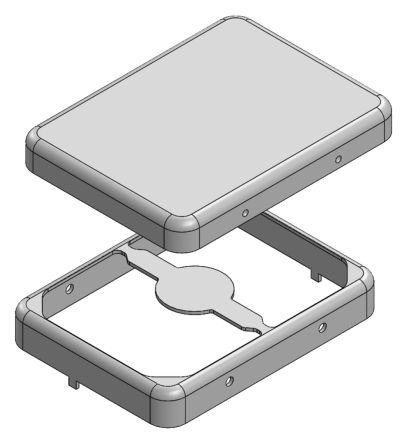 Masach Tech MS Tin Plated Steel PCB Enclosure, 23.3 x 17.5 x 3.3mm
