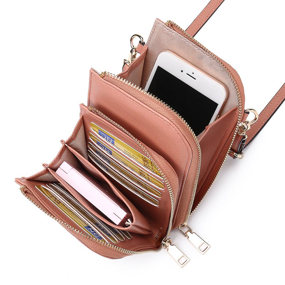 Women Multi-Slot Comestic Crossbody Bag Mini Phone Bag