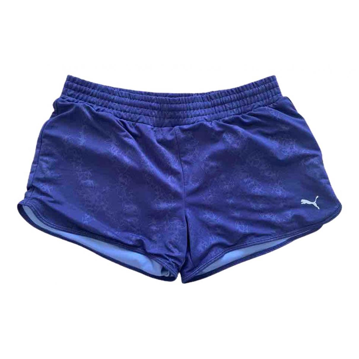 Puma \N Shorts in  Blau Synthetik