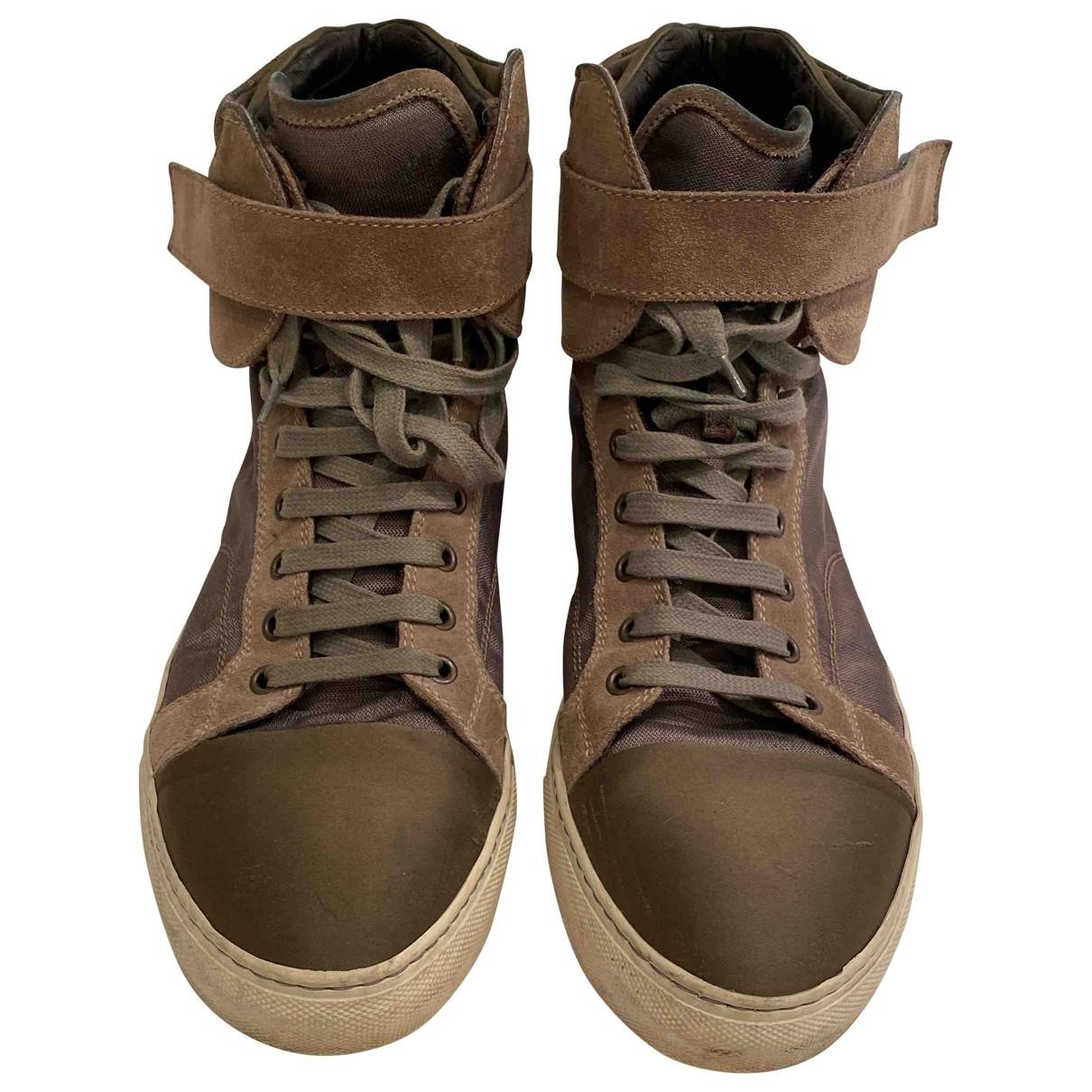 Lanvin \N Sneakers in  Braun Leder