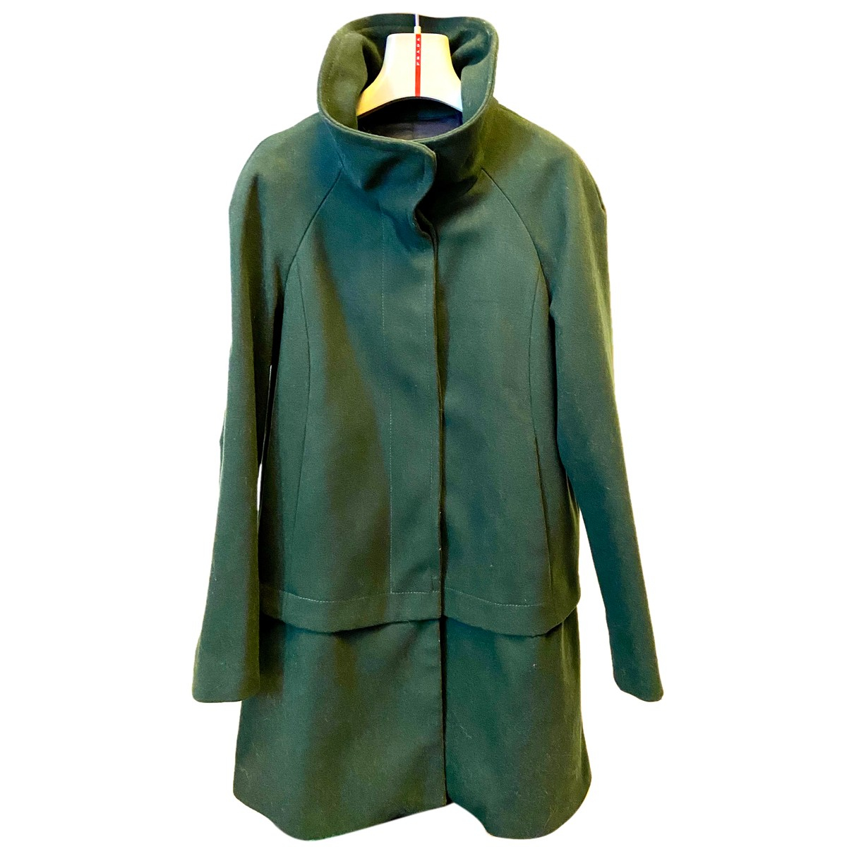 Zara N Green Cotton coat for Women S International