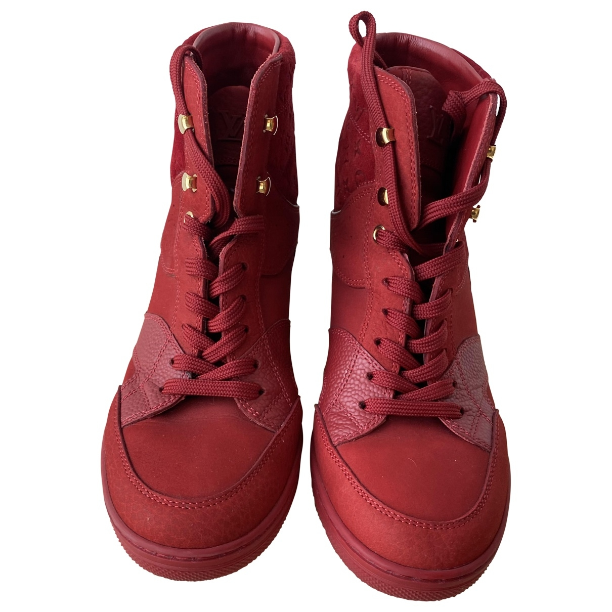 Louis Vuitton \N Red Leather Trainers for Women 36 EU