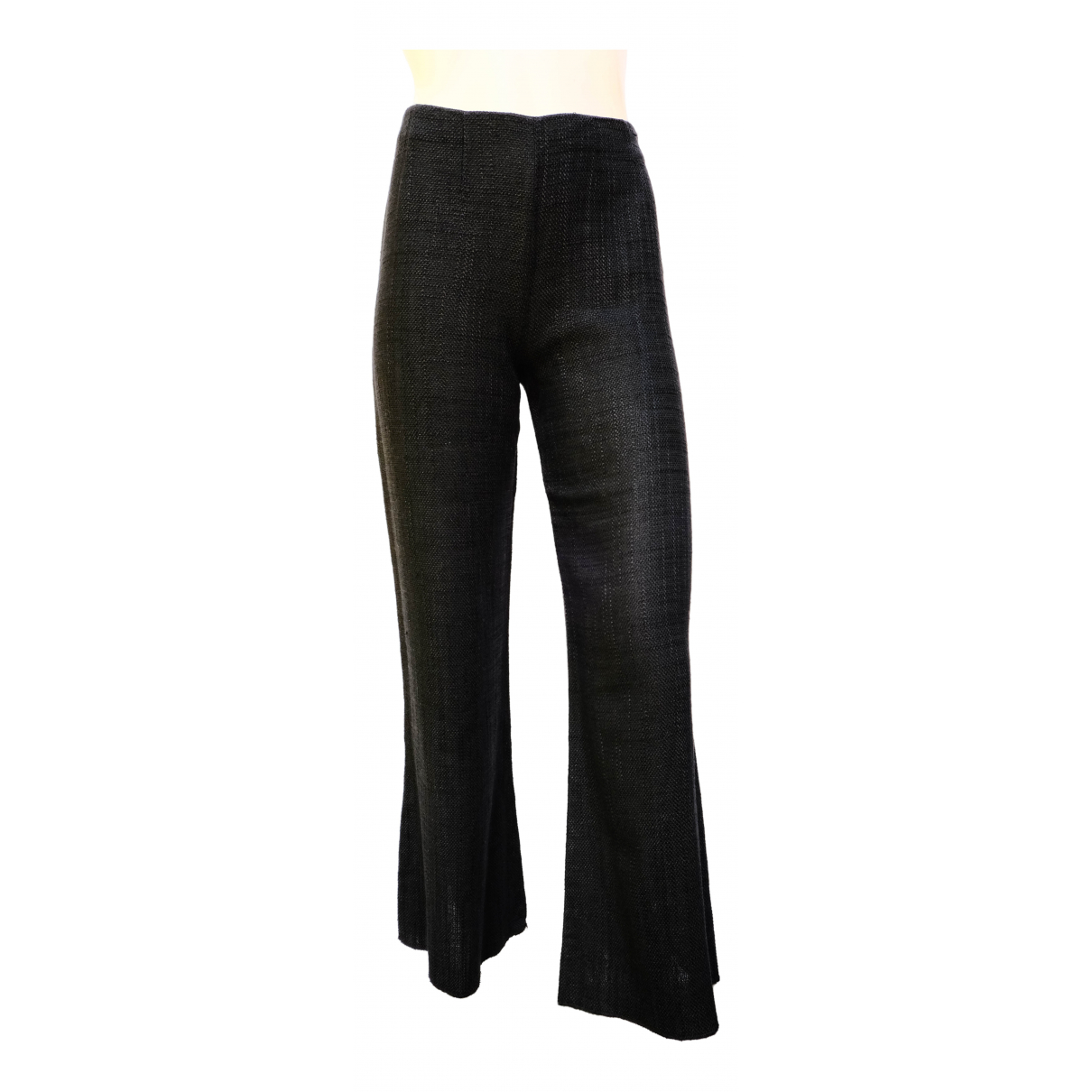 Valentino Garavani \N Black Wool Trousers for Women XS International